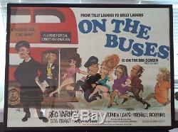 Original Movie Quad Poster On The Buses. Framed 41 X 31