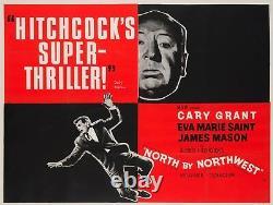 Original North by Northwest, UK Quad, Film/Movie Poster, Hitchcock