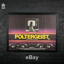 Original POLTERGEIST Quad Movie Poster in Black Frame