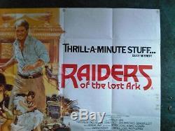 Original Raiders of the Lost Ark movie film poster UK Quad