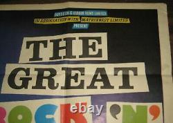 Original Sex Pistols Great Rock n Roll Swindle Quad film poster
