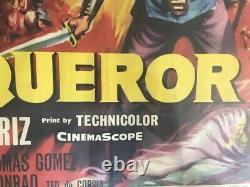 Original The Conquer British Quad Poster Film Cinema Movie John Wayne Poster