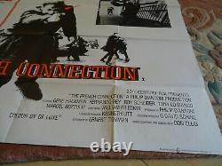 Original The French Connection vintage UK Quad film poster 30 x 40 1971