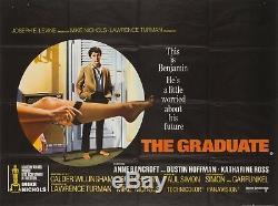 Original The Graduate, UK Quad, Film/Movie Poster 1966