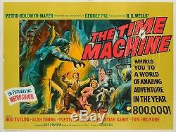 Original The Time Machine, UK Quad, Film/Movie Poster 1960, Reynold Brown