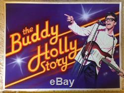 Original Tom Chantrell Film UK Quad Poster Artwork The Buddy Holly Story 1978