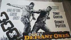 Original UK Quad Film Poster'The Defiant Ones' 1958