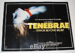 Original Uk Quad Film Poster Tenebrae Dario Argento Horror Tenebre Giallo Rare