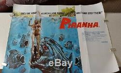 Original Uk Quad Movie Poster -1978'piranha' Very Fine Condition