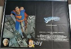 Original Uk Quad Movie Poster Superman The Movie (1978) Very Fine Condition