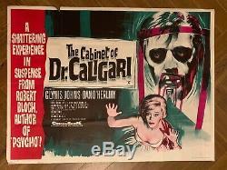 Original Vintage Film Poster CABINET OF DR CALIGARI UK QUAD VERY GOOD
