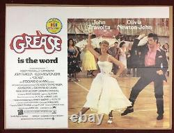Original Vintage Quad Film'Grease' Poster, John Travolta, + 1979 Pepsi sticker