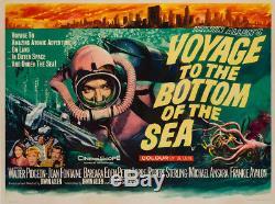 Original Voyage to the Bottom of the Sea, UK Quad, Film/Movie Poster Chantrell