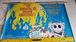 Original film posters uk quad. The nightmare before Christmas rare landscape