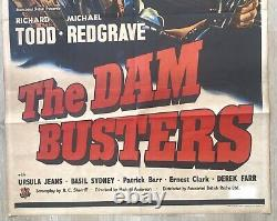 Original vintage Dambusters UK one Sheet Quad Film Movie Cinema Poster 1955