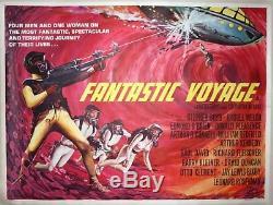 Original vintage Fantastic Voyage UK Quad movie poster, 1968 art by Tom Beauvais