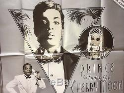 PRINCE'Under The Cherry Moon' ORIGINAL British Quad Cinema Movie Poster 30x40