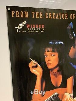 PULP FICTION (1994) Original UK Quad cinema movie poster ROLLED