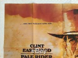 Pale Rider Original Movie Quad Poster 1985 Clint Eastwood Michael Dudash