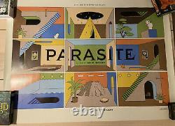 Parasite Rare Original UK Release Bong Joon-ho Quad Film Movie Poster By LA BOCA