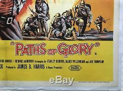 Paths Of Glory Original Movie Quad Poster 1957 Kirk Douglas, Stanley Kubrick