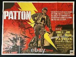 Patton Original Quad Movie Cinema Poster George C. Scott Tom Chantrell 1970