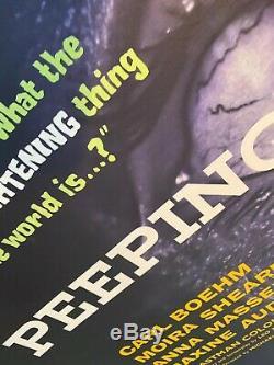 Peeping Tom Original LINEN BACKED (1960) UK Quad Film Poster Michael Powell