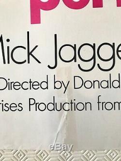 Performance Original British Movie Quad Poster 1970 Mick Jagger James Fox