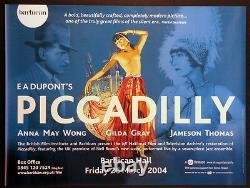 Piccadilly Anna May Wong E. A. Dupont R-2004 B. F. I. British Quad