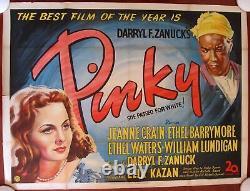 Pinky Original 1950 British Quad Poster Jeanne Crain & Ethel Waters