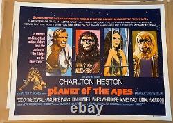 Planet Of The Apes UK Quad LINEN BACKED (1968) Original Film Poster