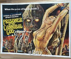 Prisoner Of The Cannibal God UK Quad LINEN BACKED (1978) Original Film Poster