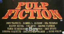 Pulp Fiction, Original 1994 British Quad Movie Film Cinema Poster, Uma Thurman