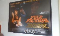 Pulp fiction quad movie poster