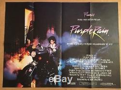 Purple Rain Original British Quad Cinema Movie Poster 1984 Prince