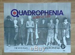 QUADROPHENIA (1979) original UK quad movie poster FIRST RELEASE Mods The Who