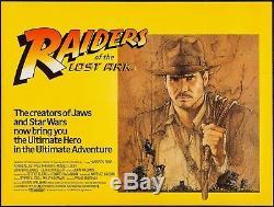 RAIDERS OF LOST ARK 1981 UK Quad A Steven Spielberg Indiana Jones Filmartgallery