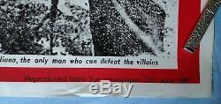 RAIDERS OF THE LOST ARK (1981) original UK quad movie poster THE SUN teaser RARE