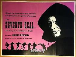 RARE! Ingmar Bergman's The Seventh Seal 1957 Original C9 British Quad 40 x 30