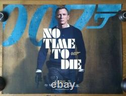 RARE JAMES BOND NO TIME TO DIE Original April Date Authentic UK Quad Film Poster