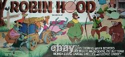 ROBIN HOOD (1973) original UK cinema first-release quad movie poster DISNEY