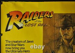 Raiders Of The Lost Ark 1981 30x40 Brit Quad Movie Poster Harrison Ford Amsel