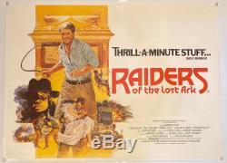 Raiders Of The Lost Ark UK British Quad LINEN BACKED (1981) Original Film Poster
