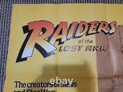 Raiders Of The Lost Ark movie poster (1981) original uk quad 30 x 40