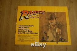 Raiders of the Lost Ark. 1982. Original UK Quad Movie Poster