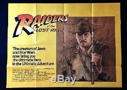 Raiders of the Lost Ark Original Quad Movie Cinema Poster Indiana Jones 1981