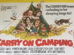 Rare ORIGINAL Carry On Camping Quad Film Poster