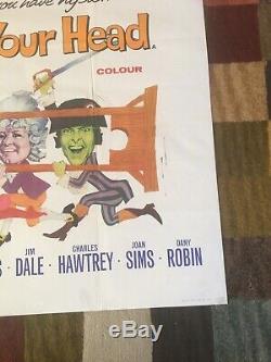 Rare Original Carry On Dont Lose Your Head Film Quad Poster