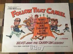 Rare Original Carry On Follow That Camel Film Quad Poster
