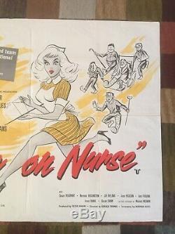 Rare Original Carry On Nurse Film Quad Poster